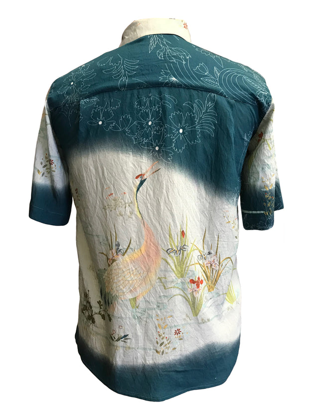 Water Flowers Crane Men's Shirt
