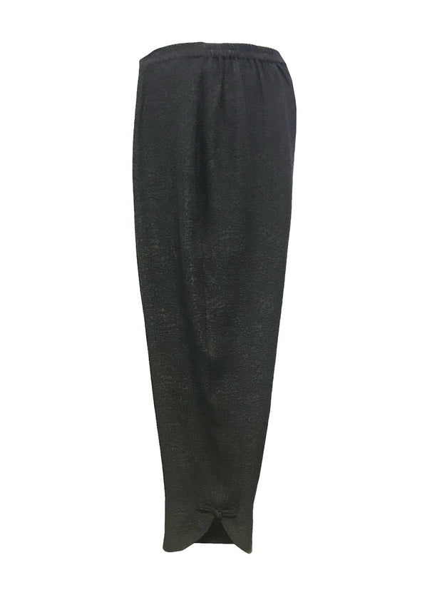 Solid Long Silk Blend Cropped Pant - size S