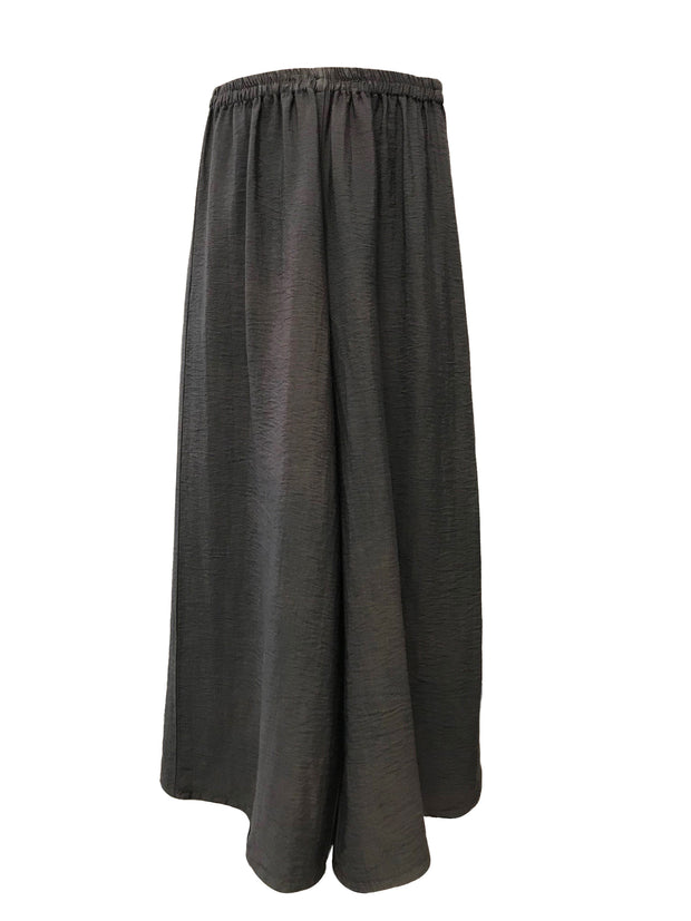 Wide Leg Ankle Length Grey Pant