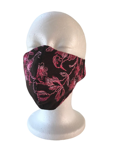 Silk/Cotton Embroidery Mask