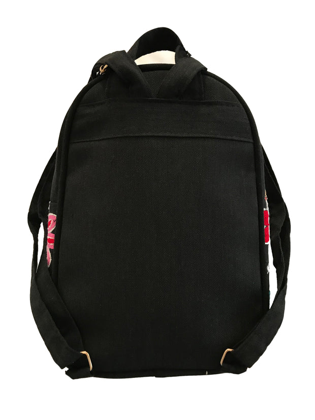 "Embroidered ""Bunny Ears"" Canvas Backpack"