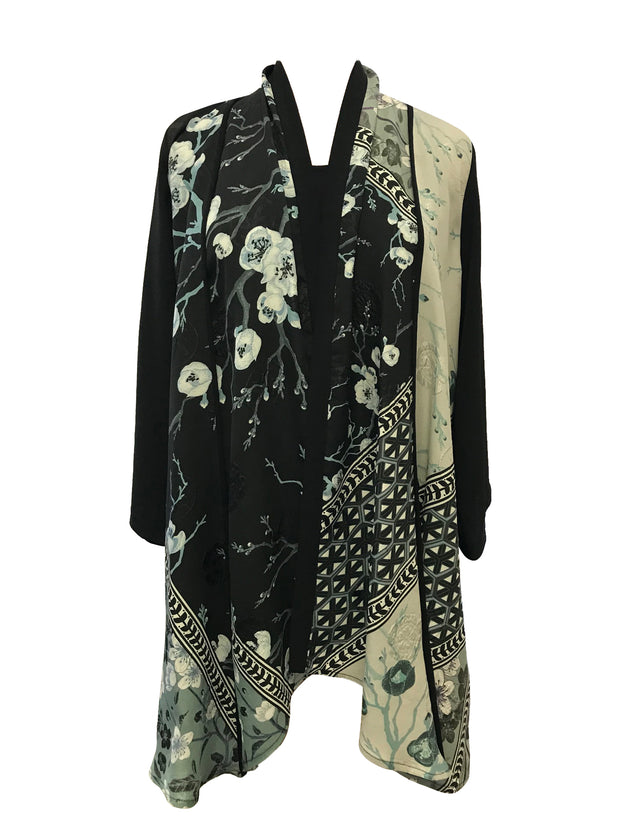 Open Front 100% Silk Jacket