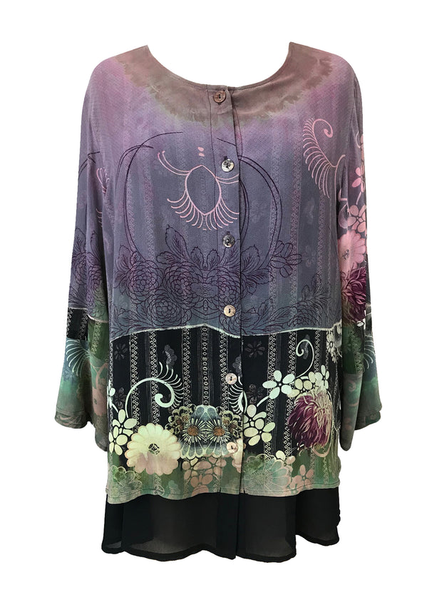 One of a Kind Double Layer Silk Top