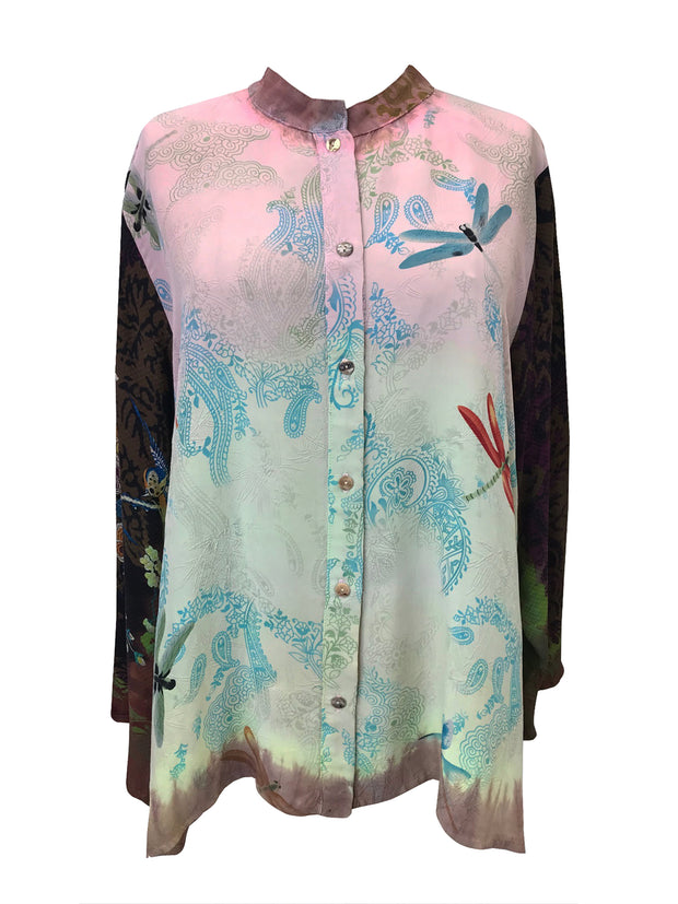 One of a Kind Classic Silk Blend Blouse
