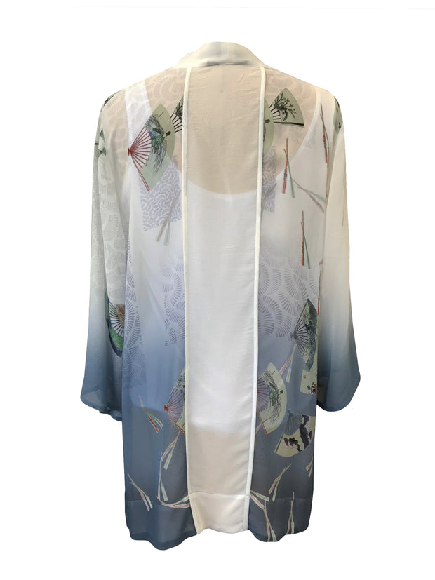 One of a Kind Open Front Silk Cardigan