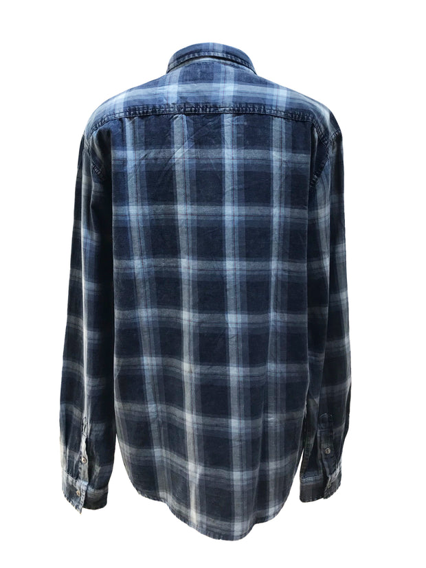 Flannel Blue Men's Shirt