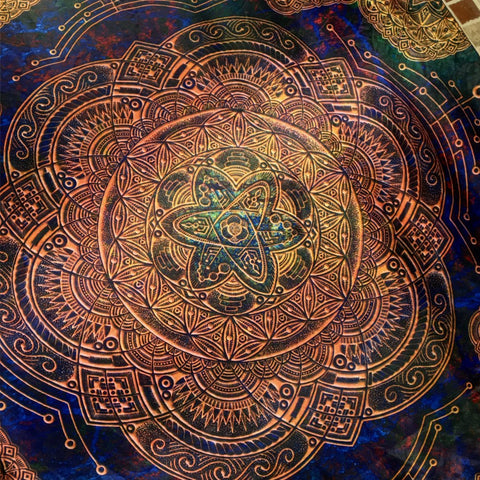 Atomic Circuit Sacred Geometry Tapestry - Enlighten Clothing Co.