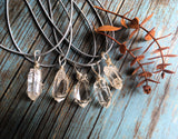 Quartz Point Wire Wrap Pendant - Enlighten Clothing Co.