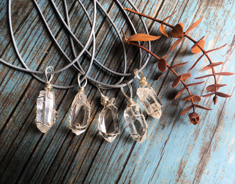Quartz Point Wire Wrap Pendant Made By Enlighten Clothing Co