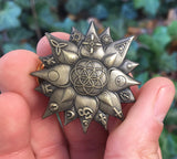 Lotus Light Of Truth Sacred Geometry Hat Pin