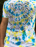 Cubular Organic Tye Dye Tee Made By Gleen L. Thomaon And Enlighten Clothing Co