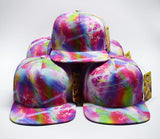 "PRESALE** ""Marbleized Madness"" Multi Color Flat Brim Hat"
