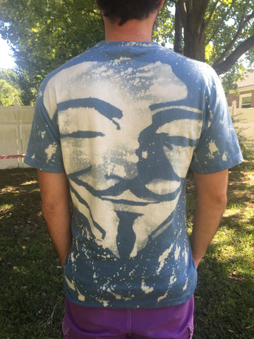 Anonymous Bleach Dye All Over Printed Tee - Enlighten Clothing Co.