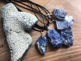 Sodalite Wire Wrap Pendant - Enlighten Clothing Co.