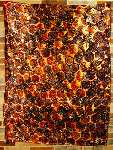 Hive Mind Sacred Geometry Bee Tapestry