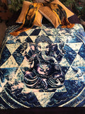 Ganesh Sri Yantra Fleece Meditation Blanket - Enlighten Clothing Co.