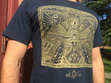 USA Made Organic Cotton And Bamboo Tee Egyptian Hieroglyph Mayan Pyramid Shirt Egyptian Map