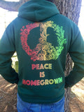 Peace Is Homegrown Hoodie, Art By Melanie Bodnar