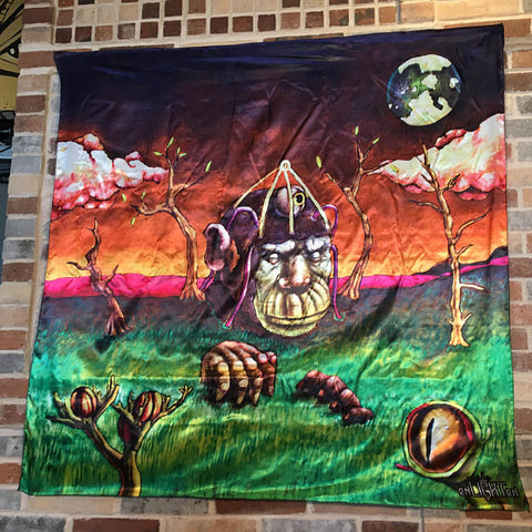 Monkey Brains Tapestry, Original Artwork By Miguel Poskone