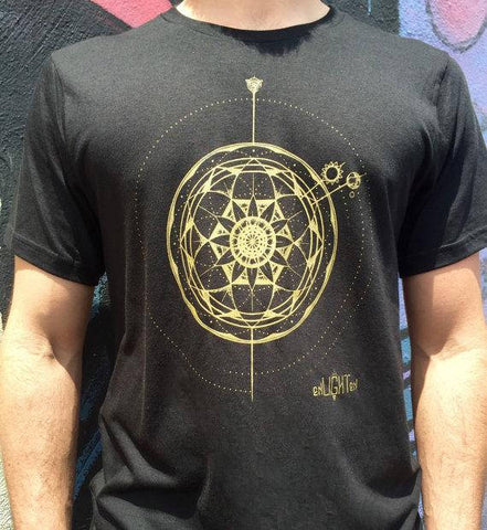 Gods Clock, Bamboo And Organic Cotton Tee Sacred Geometry Clothing By Enlighten