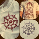 Awaken Meditating Buddha Organic Bamboo Tee - Enlighten Clothing Co.