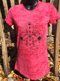 Ladies Pink Burnout Spiritualize Tee