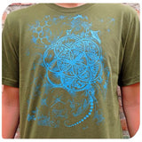 Molecule Flower Seed Of Life Tee Shirt