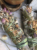 Botanical Musk Natural Air Freshener. Sage, Amethyst Crystal, Essential Oil.