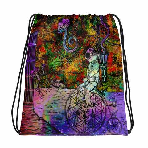 Penny Farthen Sacred Geometry Sublimated Drawstring Bag