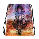 Native Totem Drawstring bag