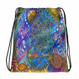 Jellyfish's Garden Drawstring bag