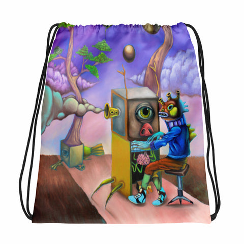 Organ Player Drawstring bag