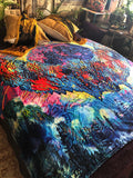Electric Owl Sacred Geometry Blanket - Enlighten Clothing Co.