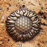 Sun Burst Sacred Geometry Pendant Sacred Geometry Jewelry by Enlighten