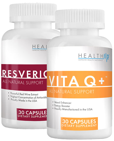 Resvericor and VitaQ+ are doctor-formulated supplements to fight the effects of aging and keep your body at peak performance