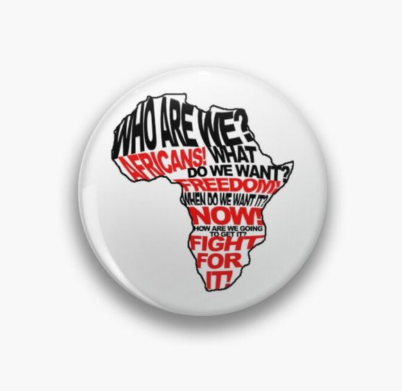 Black Liberation Slogan Pin Badge