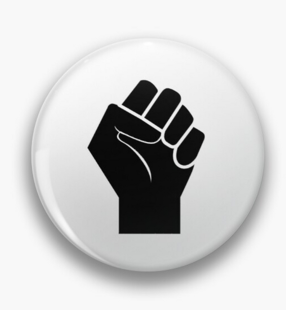 Black Power Pin Badge