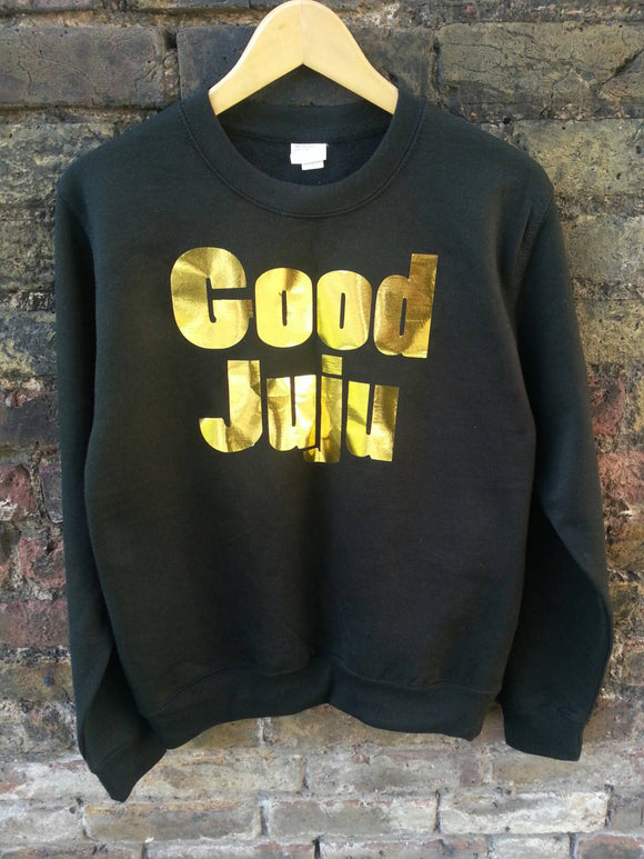 Unisex Good Juju Gold Foil Vinyl Print Sweater
