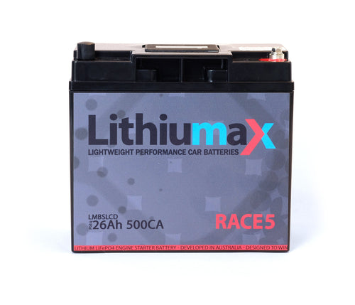 RACE5 RACE 5 SILOS Lithiumax Lightweight Performance Car Battery for Motorsport. Equipped with the lightest and most powerful blocks and cells. Light - lite - Lithiumax. Minimum weight lifepo4 technology.