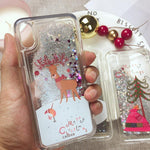 Festive Christmas Glitter Phone Case