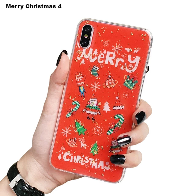 Festive Gold Christmas Phone Case