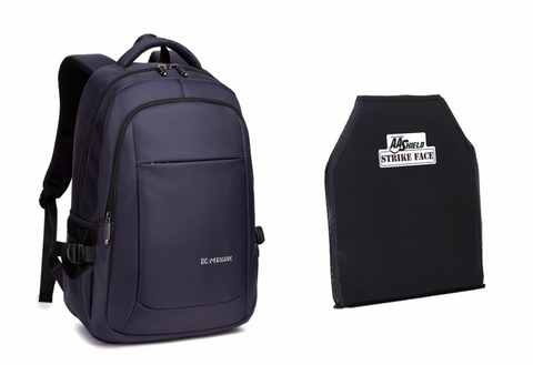Bulletproof Backpack Navy Blue | College Level 3A Armor