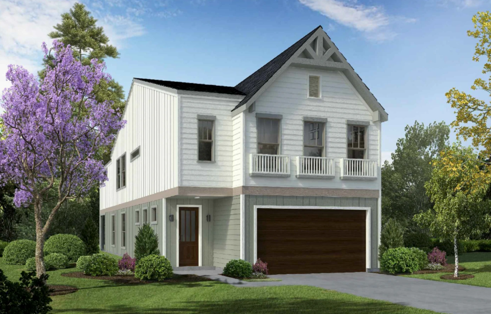 Two Story Town Floor Plan E8082 A2.1