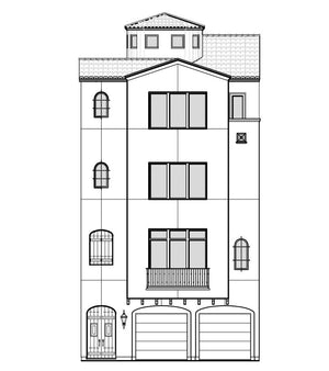 4 Story Townhouse Floor Plan with Lift