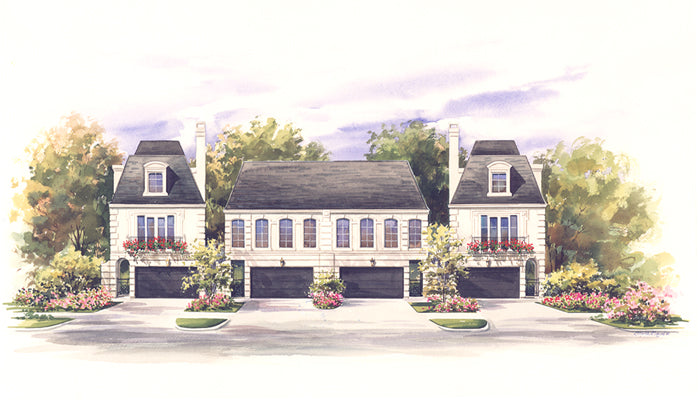 3 Story Townhouse Floor Plans for Sale