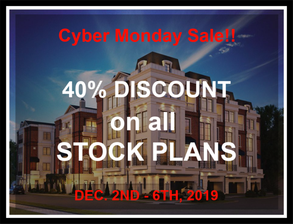 Cyber Monday - 40% Discount on All Stock Plans!! Dec. 2nd - 6th, 2019