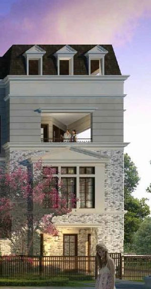 Four Story Townhouse Plan E8088 - L'Enfant