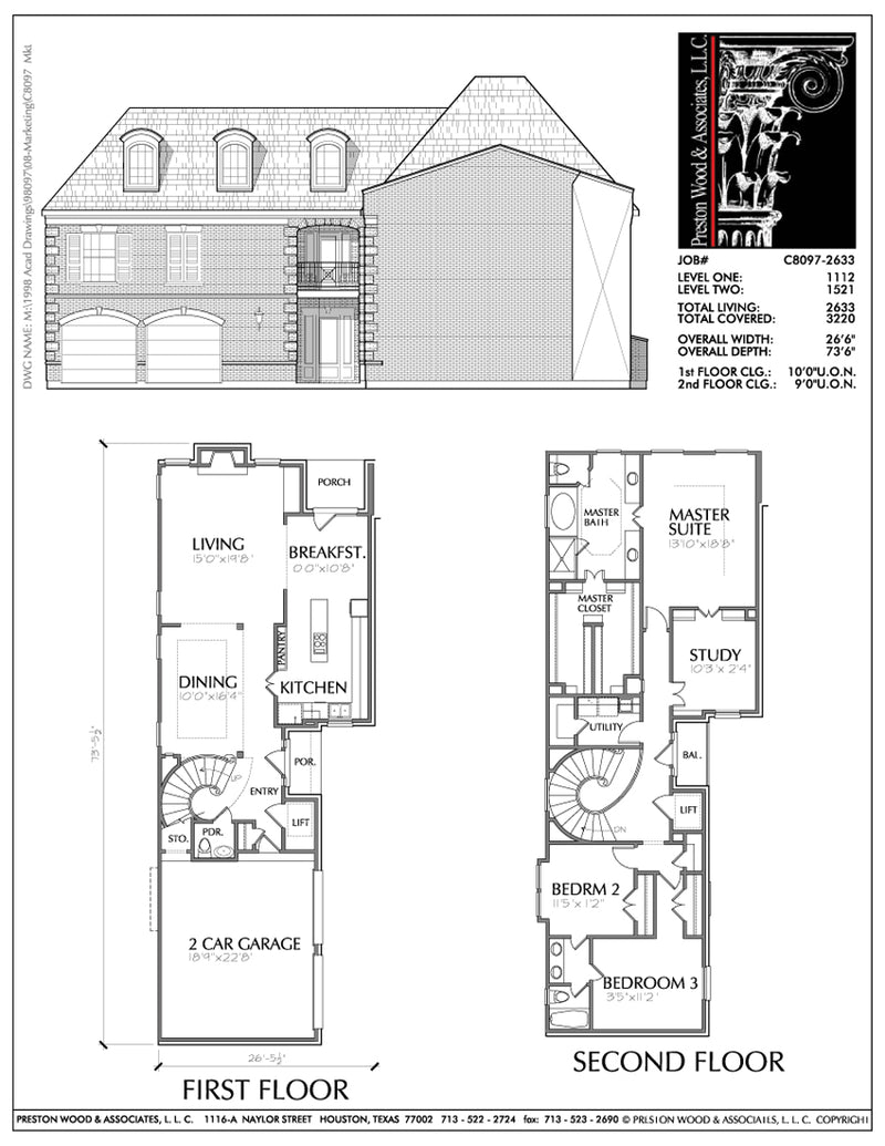 Two Story House Plan C8097