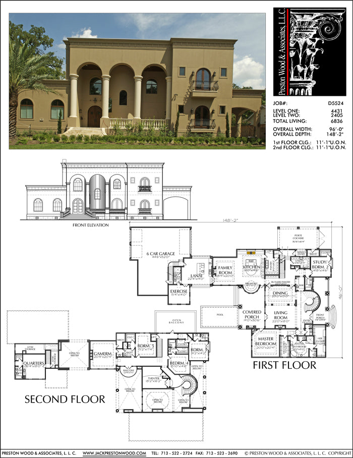 Two Story House Plan D5224