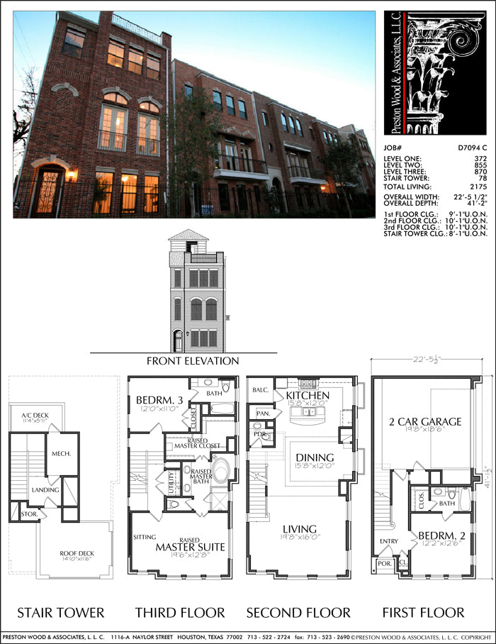 Townhouse Plan D7094 C